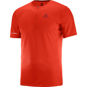 Salomon Agile T-shirt HZ Homme, fiery red